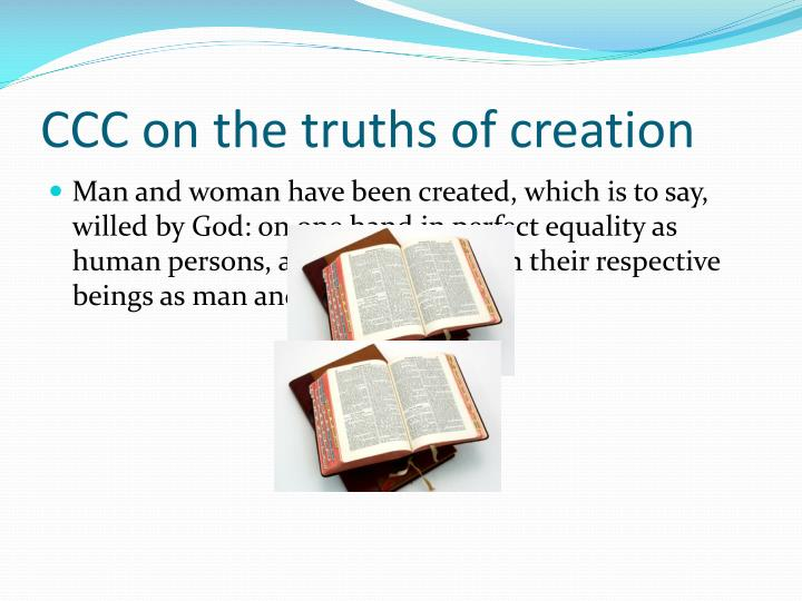 CCC on the truths of creation