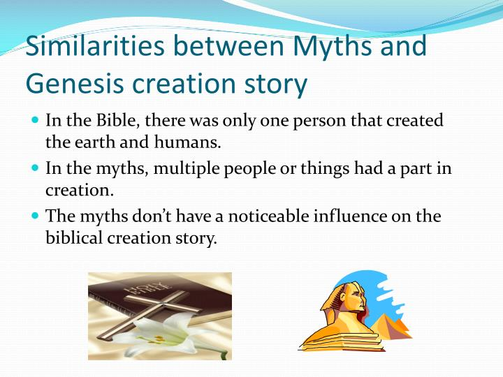 Similarities between Myths and Genesis creation story
