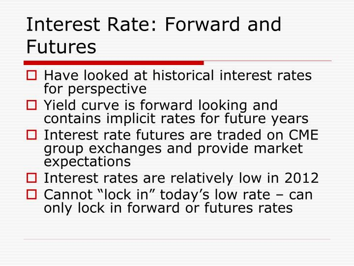 Interest Rate: Forward and Futures