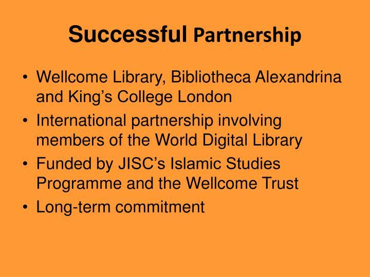 Successful partnership