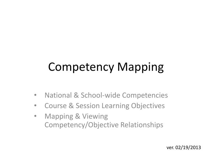 competency mapping n.