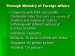 through ministry of foreign affairs