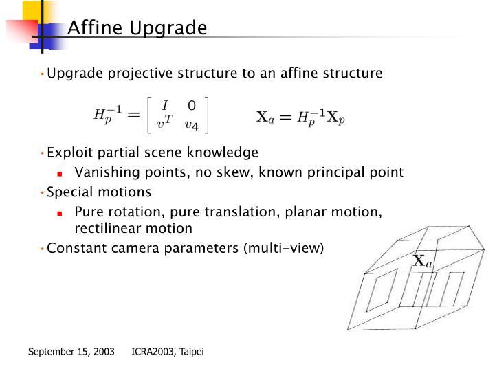 Affine Upgrade