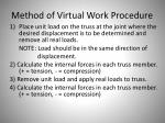 method of virtual work procedure