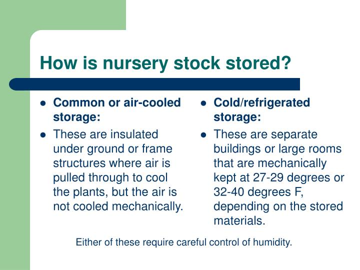 Common or air-cooled storage: