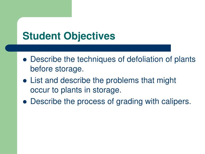 Student objectives1