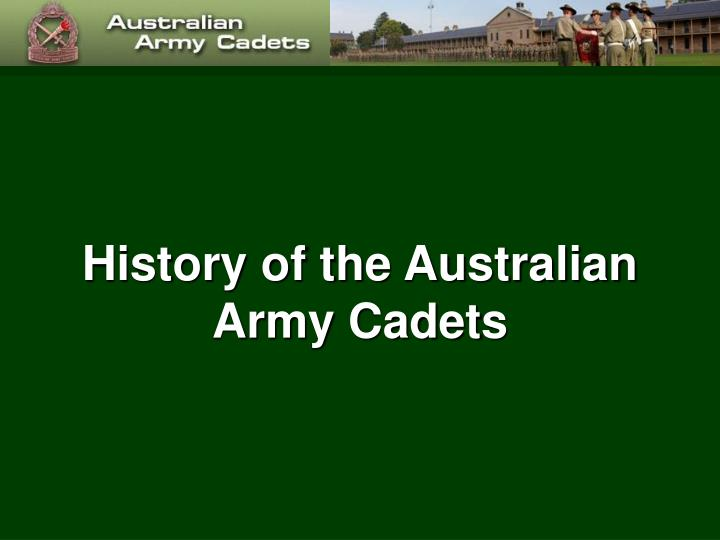 history of the australian army cadets n.