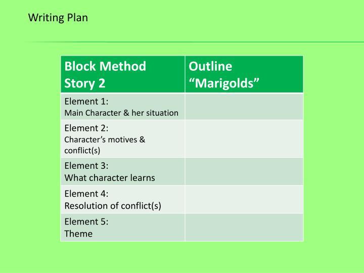 Writing Plan