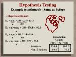 hypothesis testing example continued same as before2