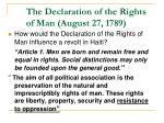 the declaration of the rights of man august 27 1789