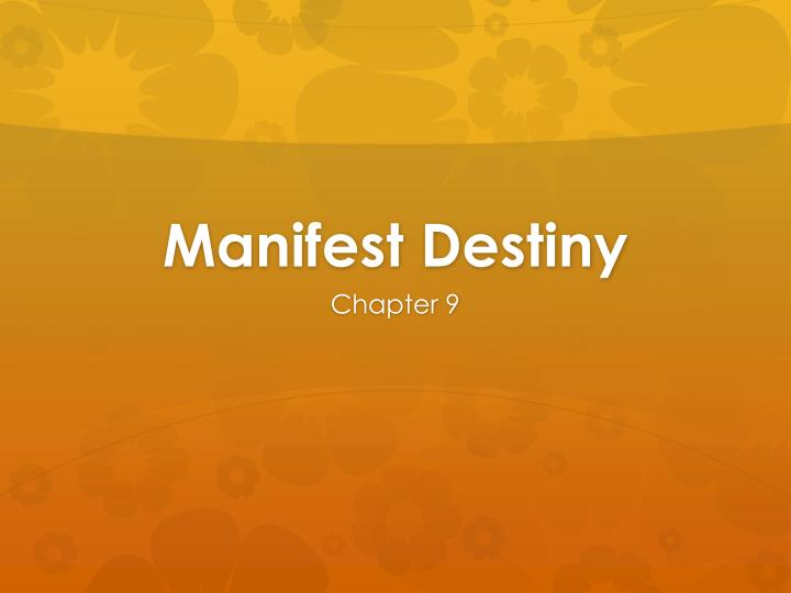 """the concept of manifest destiny It claimed that america had a destiny, manifest on manifest destiny itself, two older books, albert k weinberg, manifest destiny the concept of """"civil."""