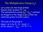 the multiplicative group z pq
