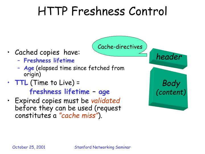 Http freshness control