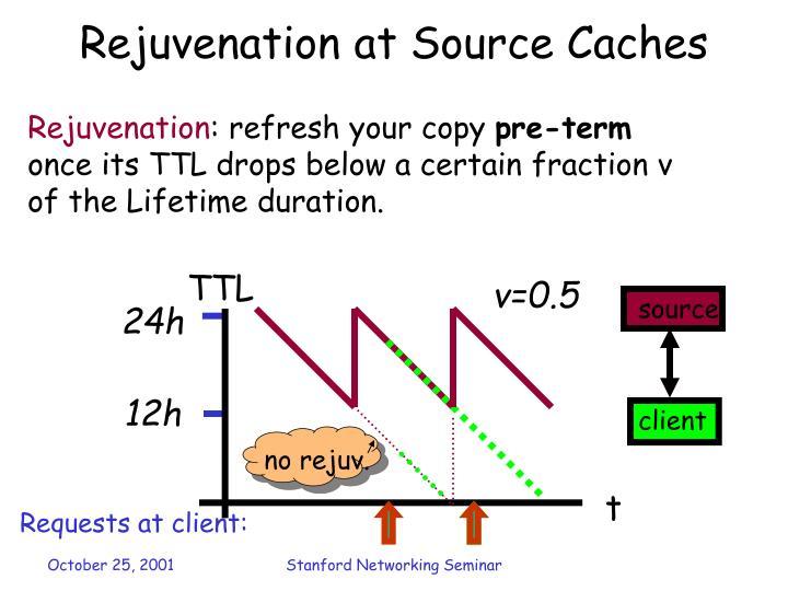 Rejuvenation at Source Caches