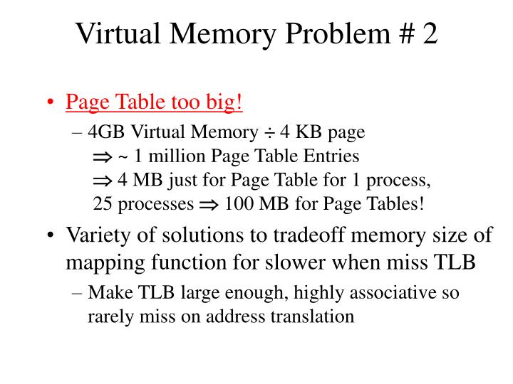 Virtual Memory Problem # 2
