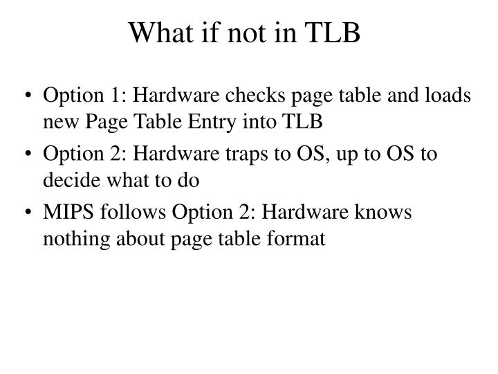What if not in TLB
