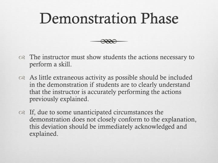 Demonstration Phase