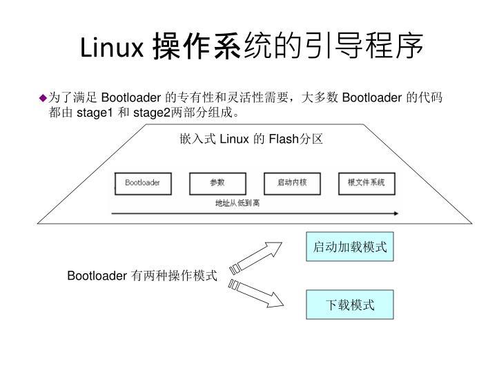 Linux 操作系统的引导程序