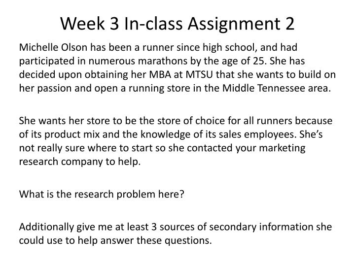 week 3 in class assignment 2 n.