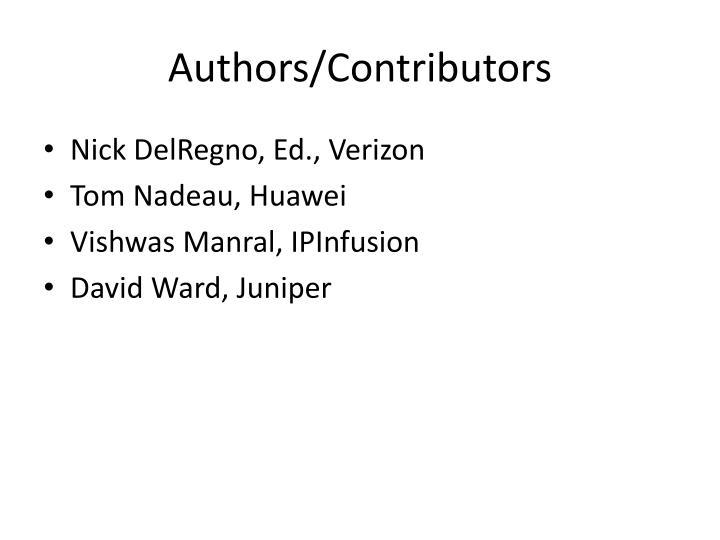 Authors contributors