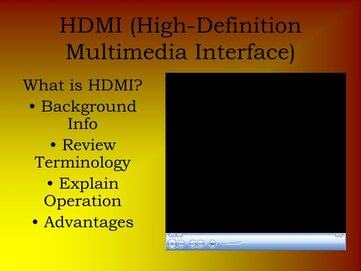 high definition multimedia interface essay Join howtoavtv as we find out about hdmi (high definition multimedia interface) - the leading combined hd video and.