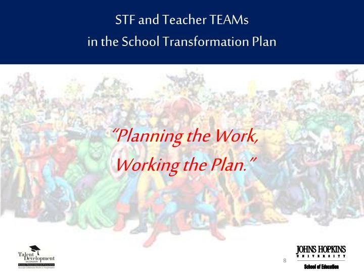 STF and Teacher TEAMs
