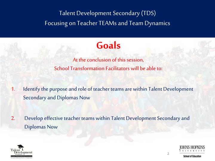 Talent development secondary tds focusing on teacher teams and team dynamics