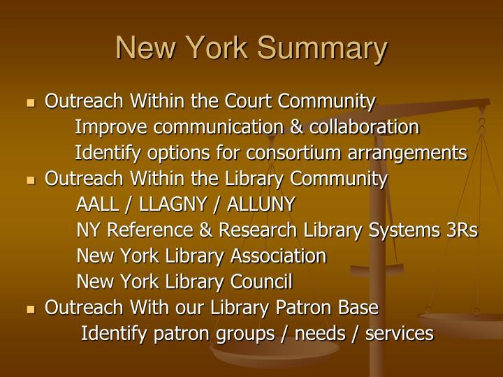New York Summary