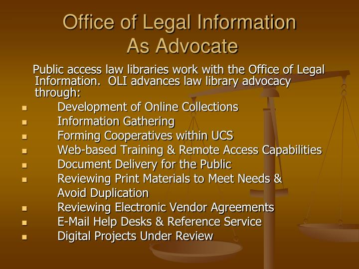 Office of Legal Information