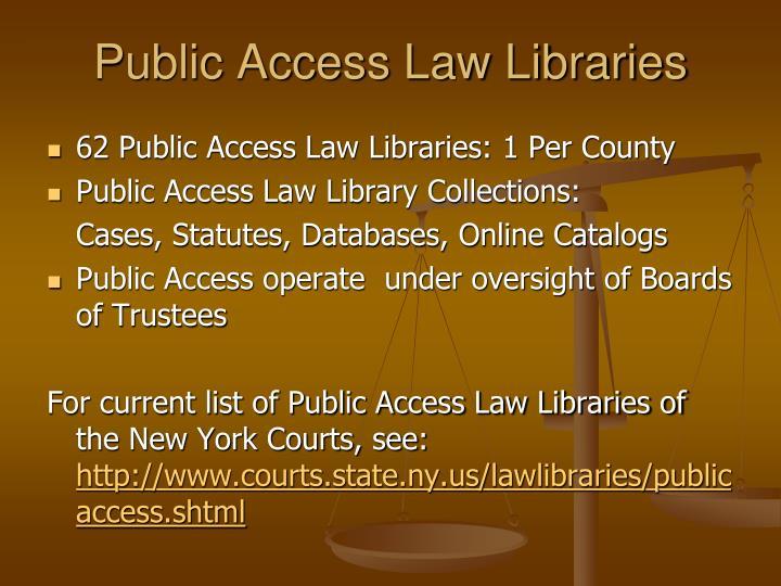 Public Access Law Libraries