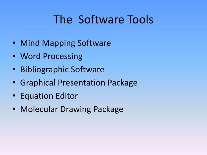 The software tools