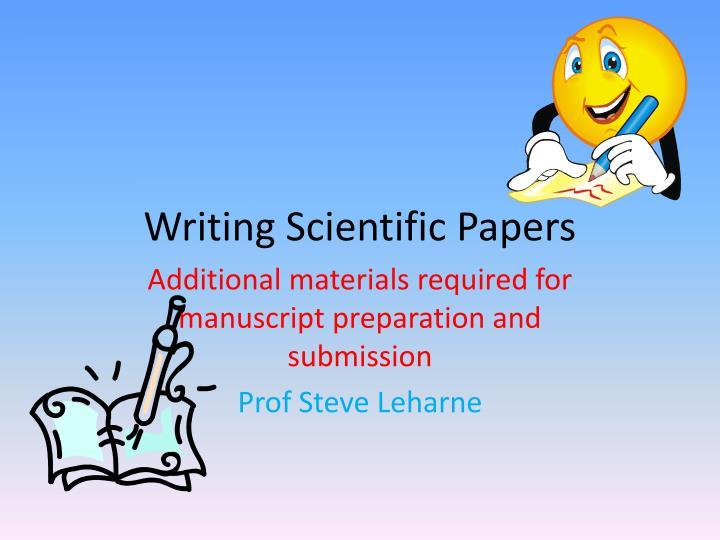 writing scientific papers in english • only writing what the reader really needs to know (not everything that you know), and limiting the amount of background information • using short sentences using google to check your english 1 use the advanced search option 2 in the field this exact wording or phrase, type in the exact english phrase you want to correct 3.