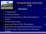 voronezh state university vsu