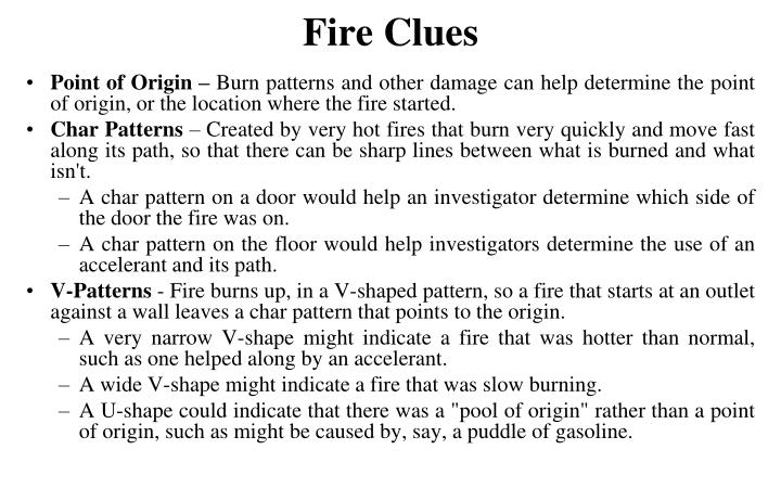 Fire Clues