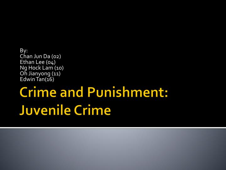 juvenile crime and punishment Colorado was an early pioneer in juvenile justice, focusing on rehabilitation of child offenders rather than punishment but by the 1990s the rules had grown stricter for colorado's juvenile defendants and juveniles throughout the united states, even as the rest of the world was moving away from harsh punishments for kids.