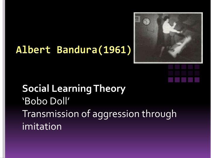 a description of a social learning theory of albert bandura Albert bandura, december 4, 1925 - albert bandura was born on december 4, 1925, in mundare, alberta, canada he attended school at an elementary and high school in one and received his bachelor's from the university of british columbia in 1949.