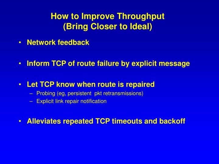 How to Improve Throughput