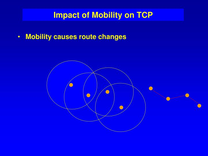 Impact of Mobility on TCP