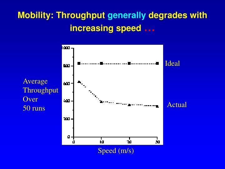 Mobility: Throughput