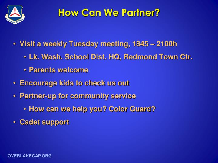 How Can We Partner?