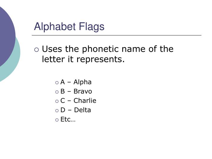 Alphabet Flags