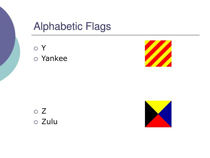 Alphabetic Flags
