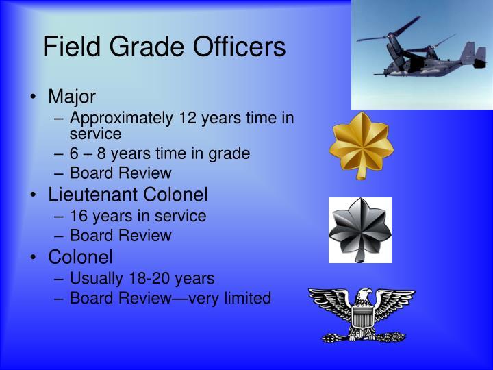 Field Grade Officers