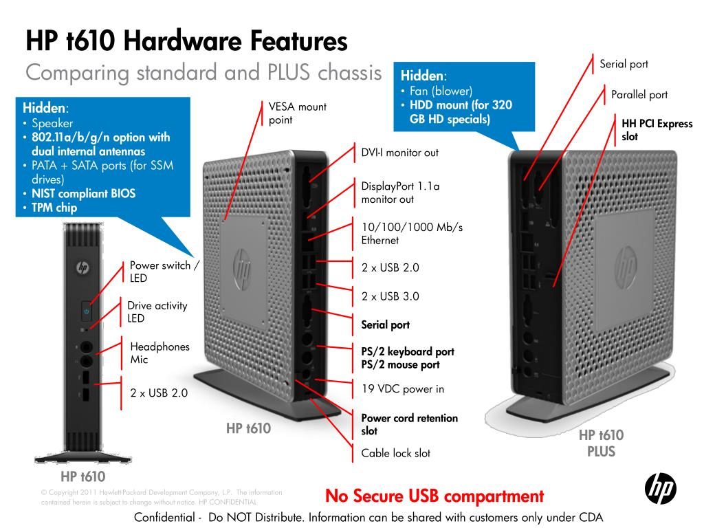 PPT - HP t610 and t510 : Introducing HP's Fastest Flexible Series