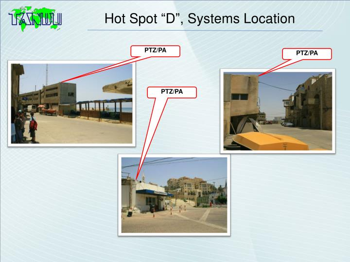 """Hot Spot """"D"""", Systems Location"""