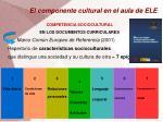 el componente cultural en el aula de ele1