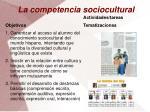 la competencia sociocultural