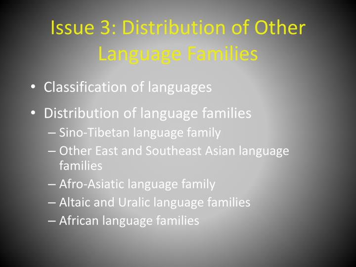 issue 3 distribution of other language families n.