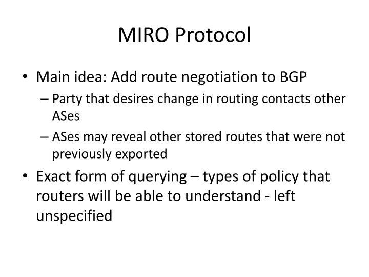 MIRO Protocol