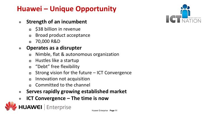 Huawei – Unique Opportunity